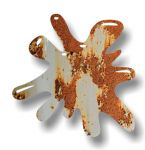 New SPLAT Design With Rusty Metal Motif External Vinyl Car Sticker 110x110mm